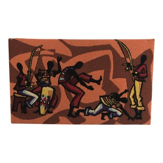 African Dancers Needlepoint Wall Hanging