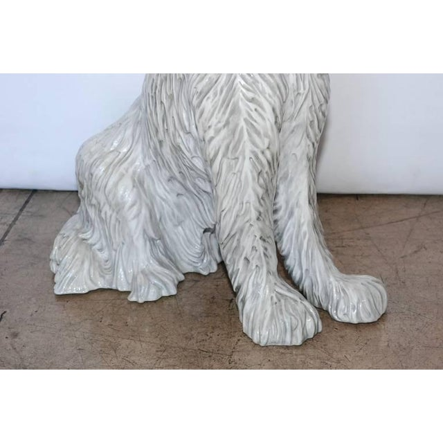 Ceramic Vintage Italian Ceramic Dog Sculpture For Sale - Image 7 of 10