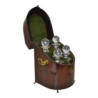 18th Century Rosewood Cased Liquor Decanter Set For Sale