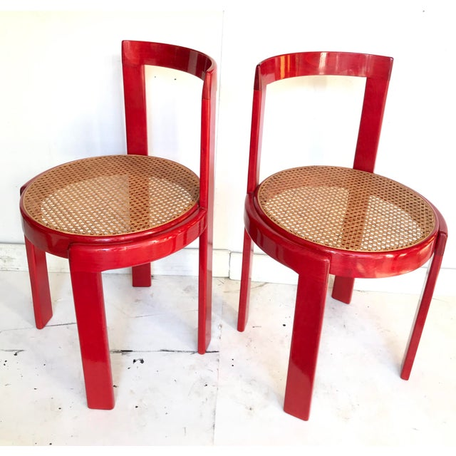 Afra & Tobia Scarpa Vintage Italian Dining Chairs in the Manner of Scarpa For Sale - Image 4 of 12