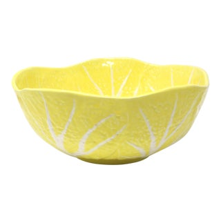 Yellow Cabbageware Serving Bowl For Sale