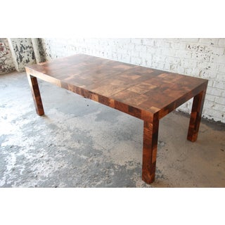 Paul Evans for Directional Patchwork Burl Wood Parsons Extension Dining Table Preview