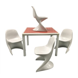 1970s Child's Table and Casalino Stacking Chairs For Sale