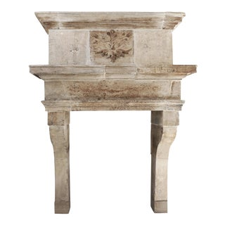 Antique Fireplace With Trumeau, 18th Century, Louis XIII For Sale