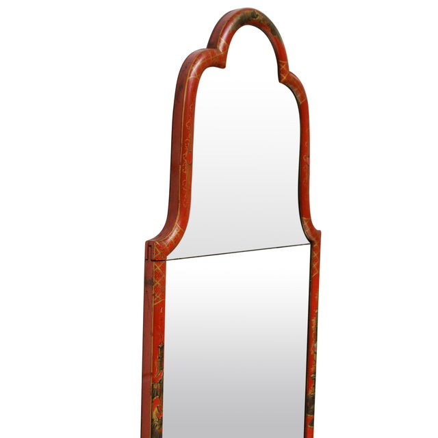 A Fine Queen Anne Style Japanned Mirror For Sale - Image 4 of 6