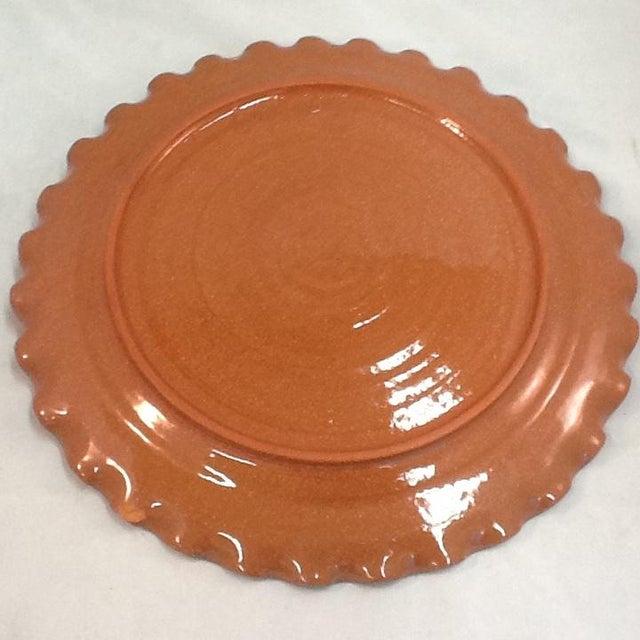 Handmade Pottery Tray. Signed Pottery Tray. Vintage Pottery Plate. Chicken-Imagery Pottery Tray - Image 3 of 5
