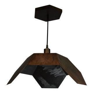 Oblik Studio Ceiling Antic Steel Pendant Light For Sale