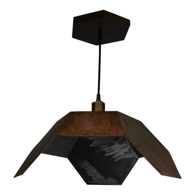Oblik Studio Ceiling Antic Steel Pendant Light For Sale