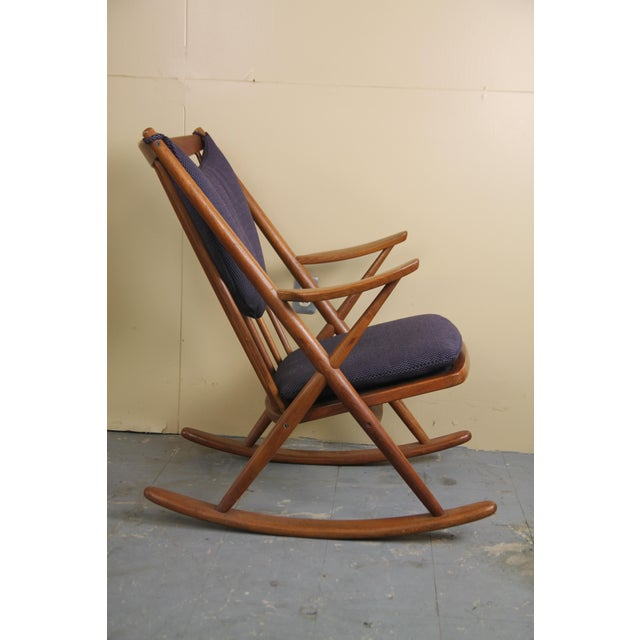 Mid-Century Modern Danish Rocking Chair by Frank Reenskaug for Brahmin Mobler For Sale - Image 3 of 7