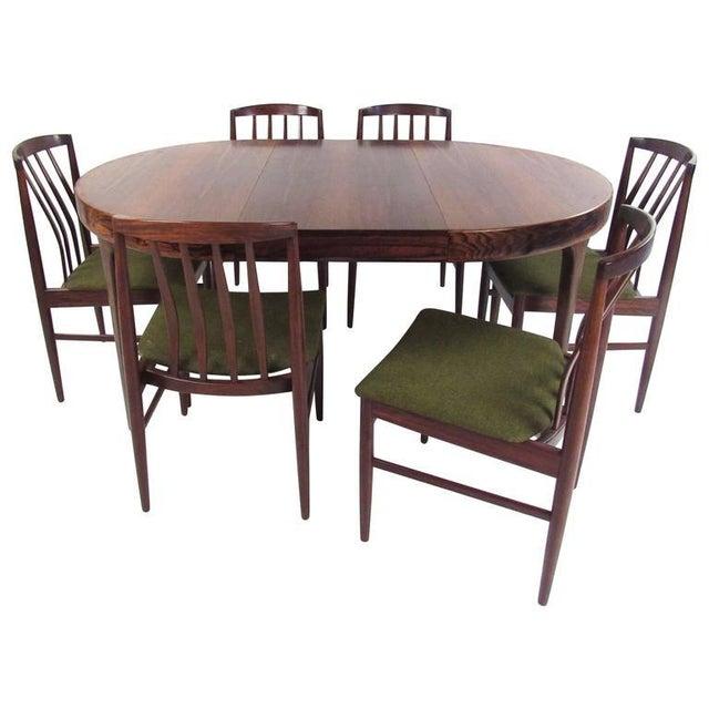 Mid-Century Modern Vamo Sonderborg Rosewood Dining Set For Sale - Image 11 of 11