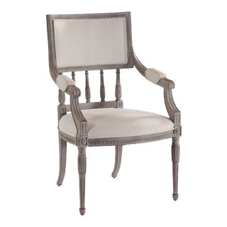 Swedish Spindle Back Dining Arm Chair For Sale