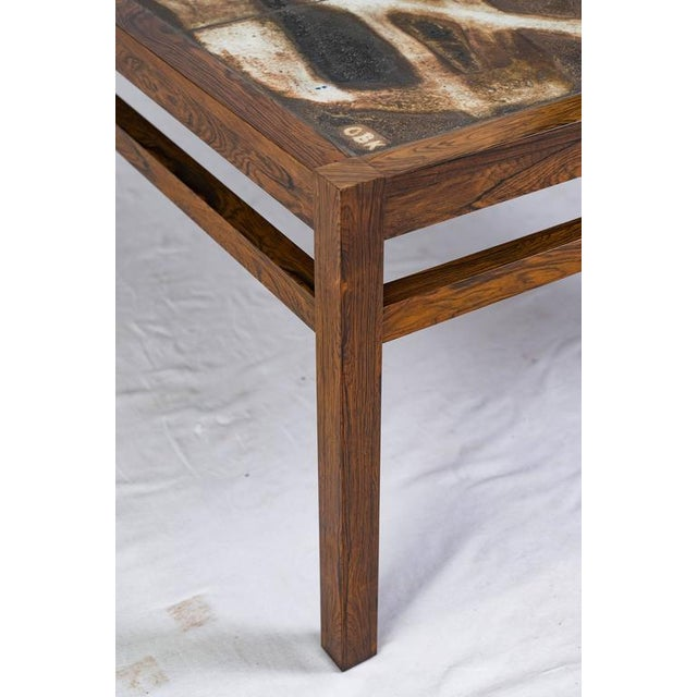 Danish Abstract Tile Coffee Table For Sale - Image 9 of 10
