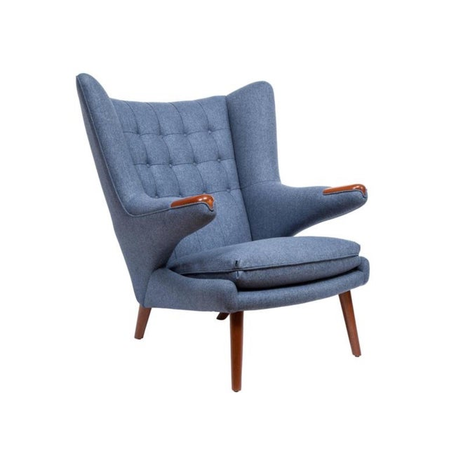 Pair of Pavel Wingback Armchairs For Sale - Image 4 of 5
