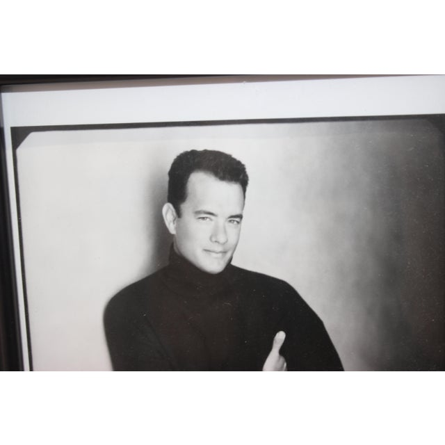 Black Vintage Tom Hanks 1980 Photograph Signed to Paul Newman's Personal Secretary For Sale - Image 8 of 10