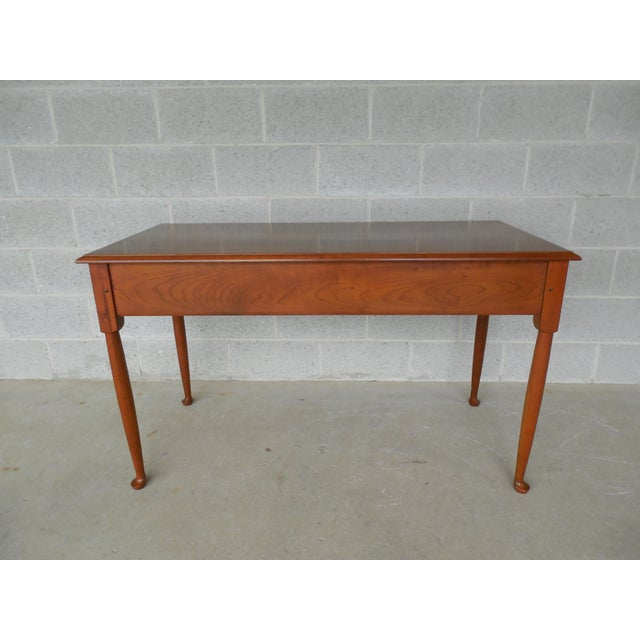 L & JG Stickley Cherry Valley 2 Drawer Writing Desk For Sale - Image 9 of 11
