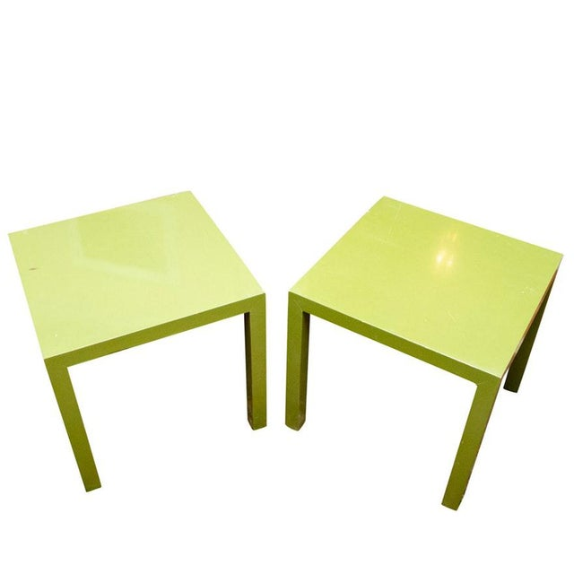 1960s 1960s Contemporary Founders Parsons Green Side / Coffee Tables - a Pair For Sale - Image 5 of 5
