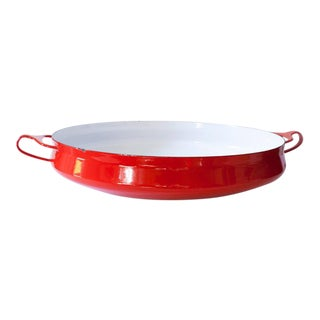 Large Chili Red Dansk Kobenstyle Buffet Serving Dish