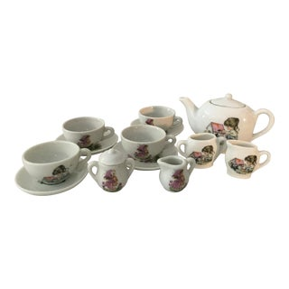 Vintage Children's Tea Set - 13 Pieces For Sale