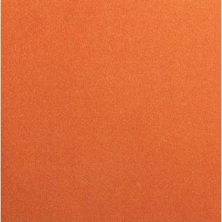 Italian-Made Cotton Orange Velvet Fabric, 10 Yards For Sale