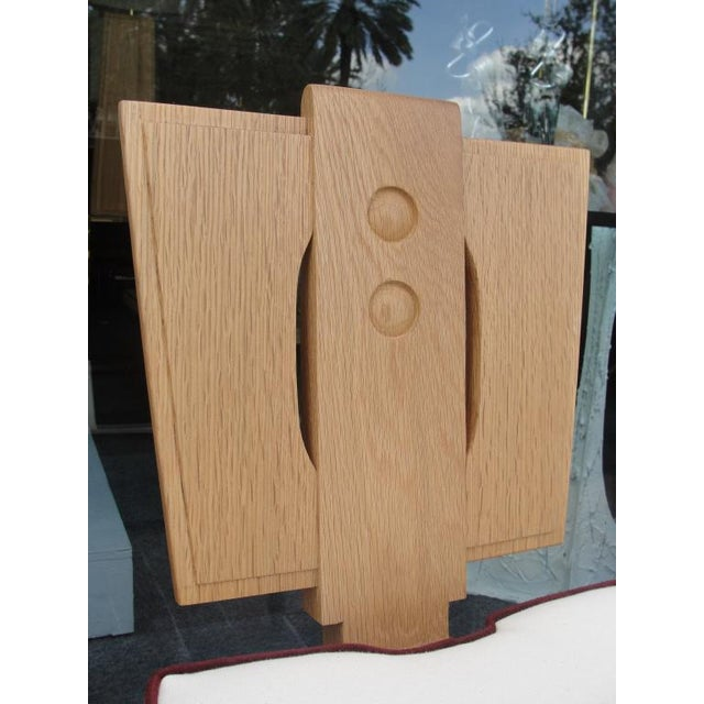 Art Deco Set of 8 Natural Finish Oak Chairs in the Style of Francis Jourdain For Sale - Image 3 of 7