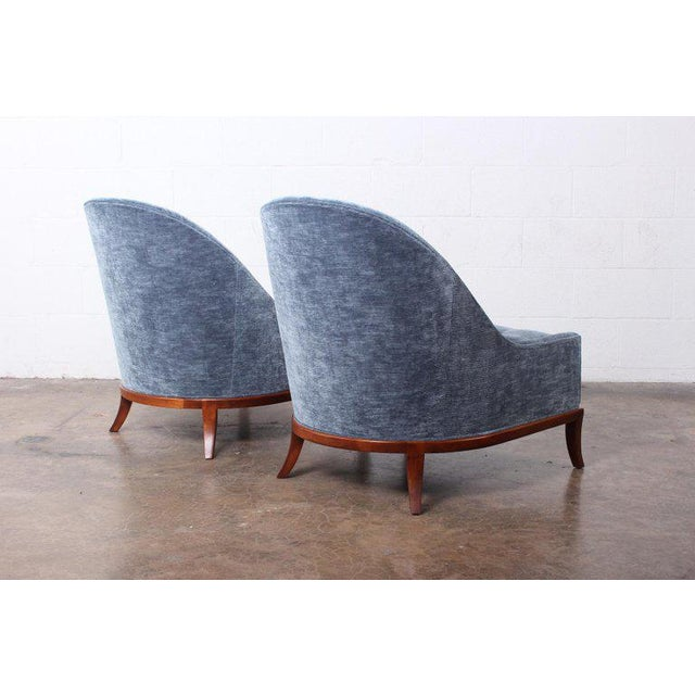 Pair of Slipper Chairs by t.h. Robsjohn-Gibbings for Widdicomb For Sale - Image 9 of 12