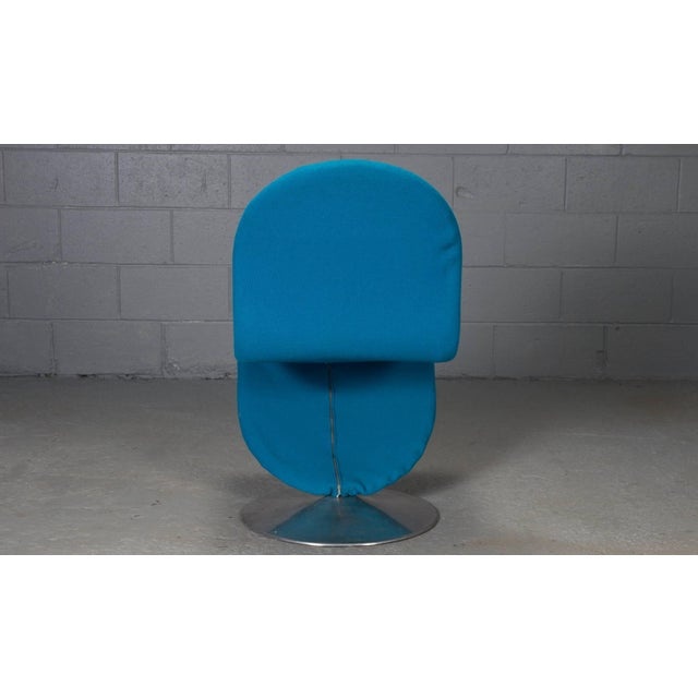 Metal Danish Modern 1-2-3 Chairs by Verner Panton for Fritz Hansen, 1950s- Set of 6 For Sale - Image 7 of 11