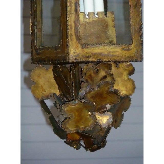 Tom Greene Vintage Tom Greene Mid-Century Brass Pendant Light For Sale - Image 4 of 5