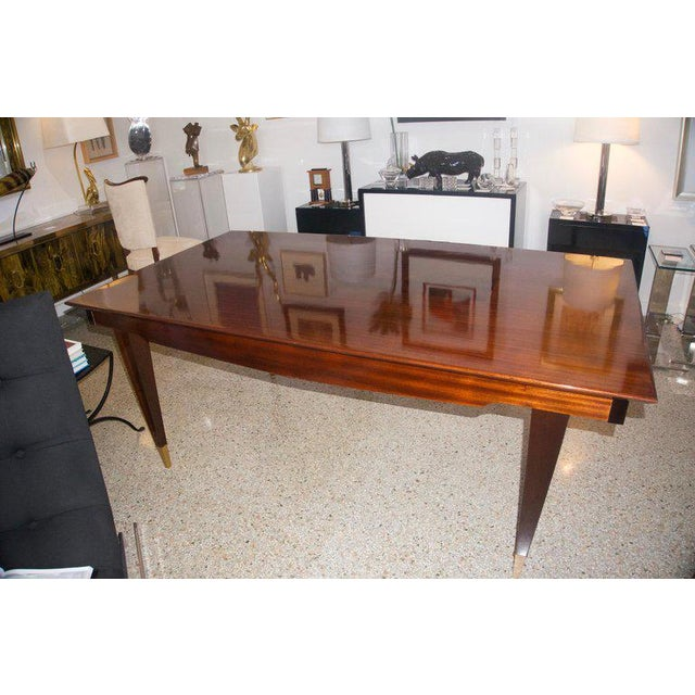 Paolo Buffa Mid-Century Modern Dining Room Table Lacquered Extension Leaves For Sale - Image 4 of 12