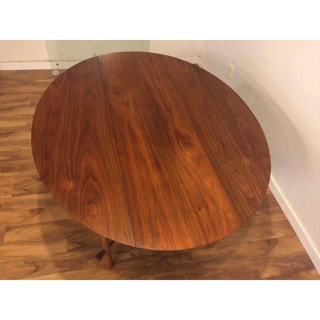 Mid-Century Modern Heritage Henredon Drop Leaf Dining Table For Sale - Image 3 of 10