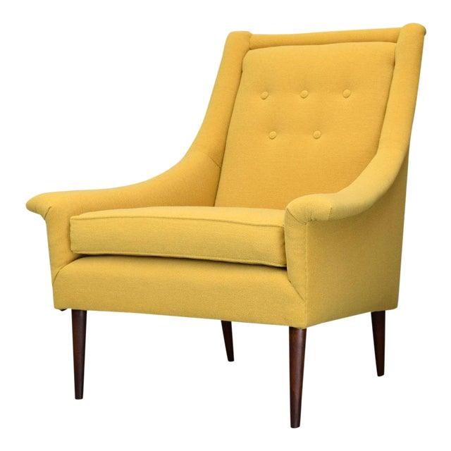 Refurbished Mid-Century Lounge Chair in Maharam Kvadrat Voyage - Image 1 of 7