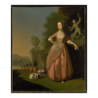 Late 18th Century Portrait Oil Painting of Mrs. Barratt of Pottley Hall For Sale