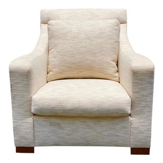 Donghia Bond Street Coupe Beige Club Chair For Sale
