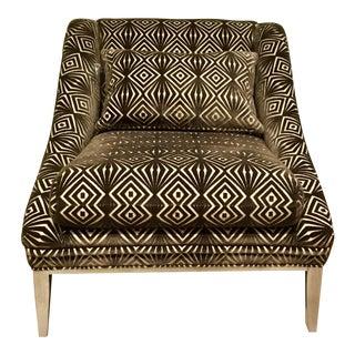 Vangaurd Co. Geometric Velvet Chair For Sale
