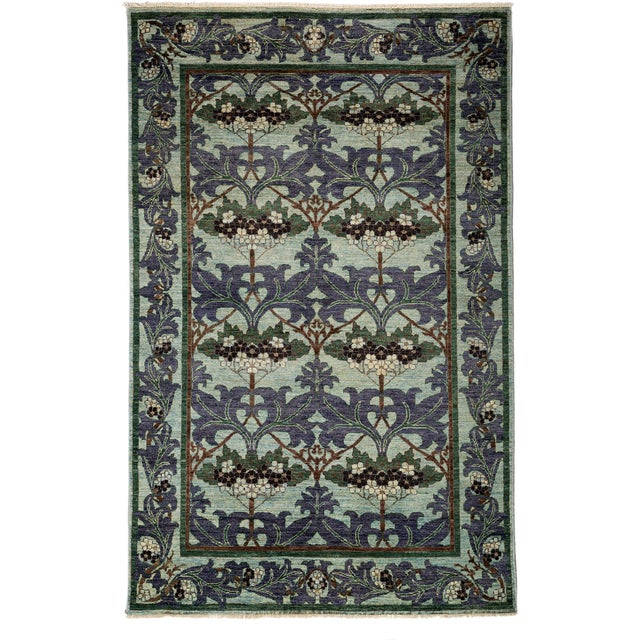 """Arts & Crafts Hand-Knotted Rug - 5' 1""""x7' 10"""" - Image 1 of 3"""