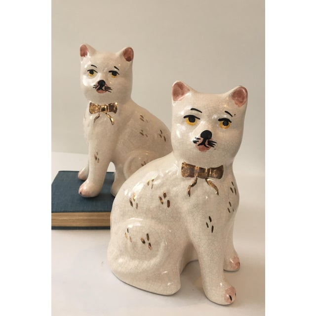 Asian Staffordshire Cat Figurine - A Pair For Sale - Image 3 of 7