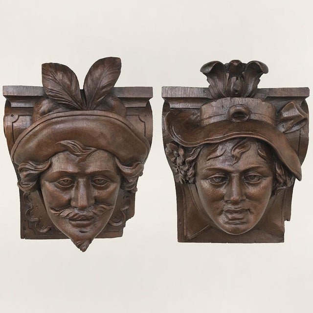 Pair 19th Century Renaissance Wall Sconces ~ Corbels For Sale - Image 13 of 13