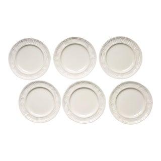"""Antique White Gien """"Pont Aux Choux"""" Plates - Set of 6 For Sale"""
