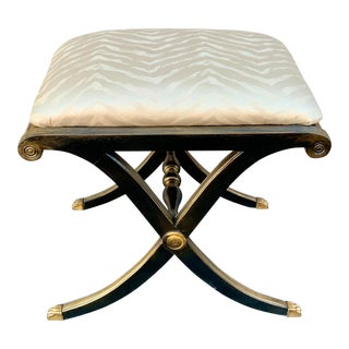 Mahogany Regency X Frame Stool For Sale