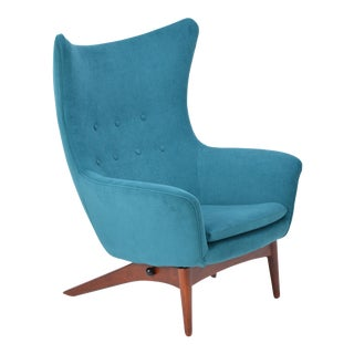 Reupholstered Model 207 Reclining Lounge Chair Designed by h.w. Klein For Sale