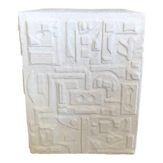 Sculptural Plaster Side Table For Sale