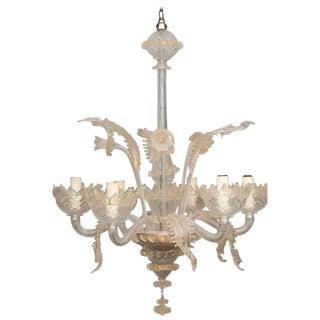 Venetian Murano Six-Light Chandelier