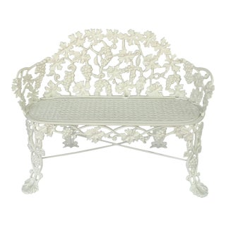 American Garden Bench or Seat of Cast Iron by Hart For Sale
