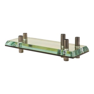 Italian Glass Candle Holder Centerpiece For Sale