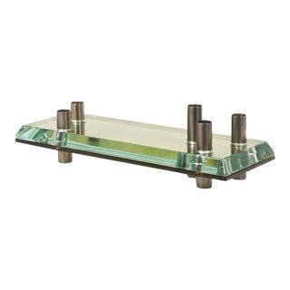 Italian Glass Candle Holder Centerpiece