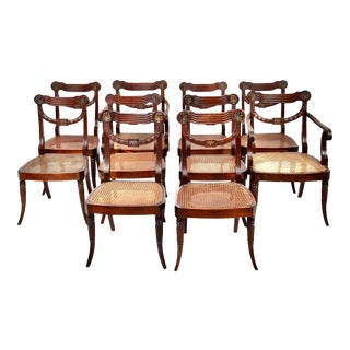 19th Century Regency Mahogany Dining Chairs- Set of 10 For Sale