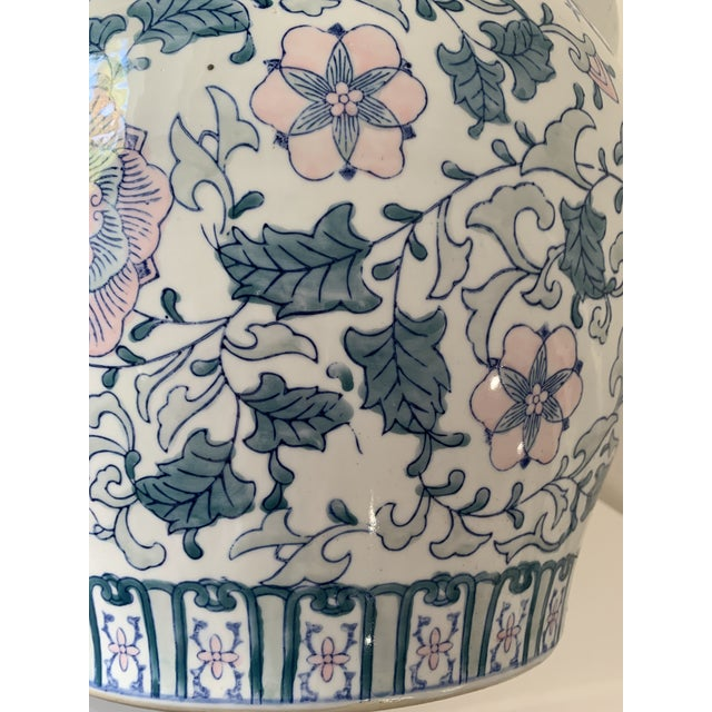 1970s 1970s Chinoiserie Porcelain Vase For Sale - Image 5 of 9