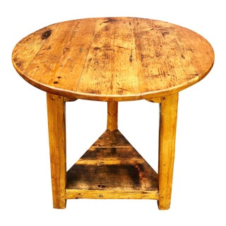 19th Century English Pine Cricket Table For Sale