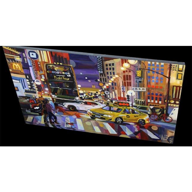 """Large """"Nyc Lights"""" Acrylic Oil Painting by Natalia Bessonova For Sale - Image 4 of 5"""