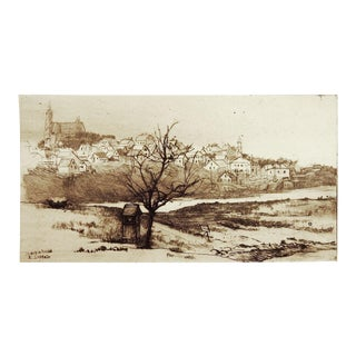 Marblehead Landscape Etching Print