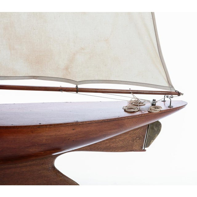 Antique Nautical Fully Rigged Pond Yacht Sailboat For Sale - Image 4 of 5